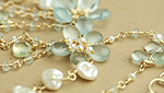 Blooms and Draped Chains in Aquamarine